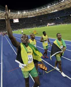 amaican 4 x 100 Metres Gold Winner