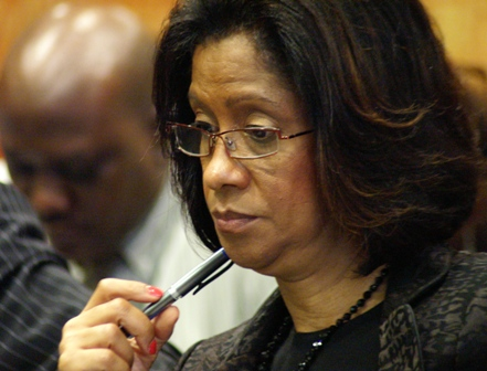 A contemplative new JTI President, Sancia Bennett-Templer at the recent presentation of the World Investment Report 2009.