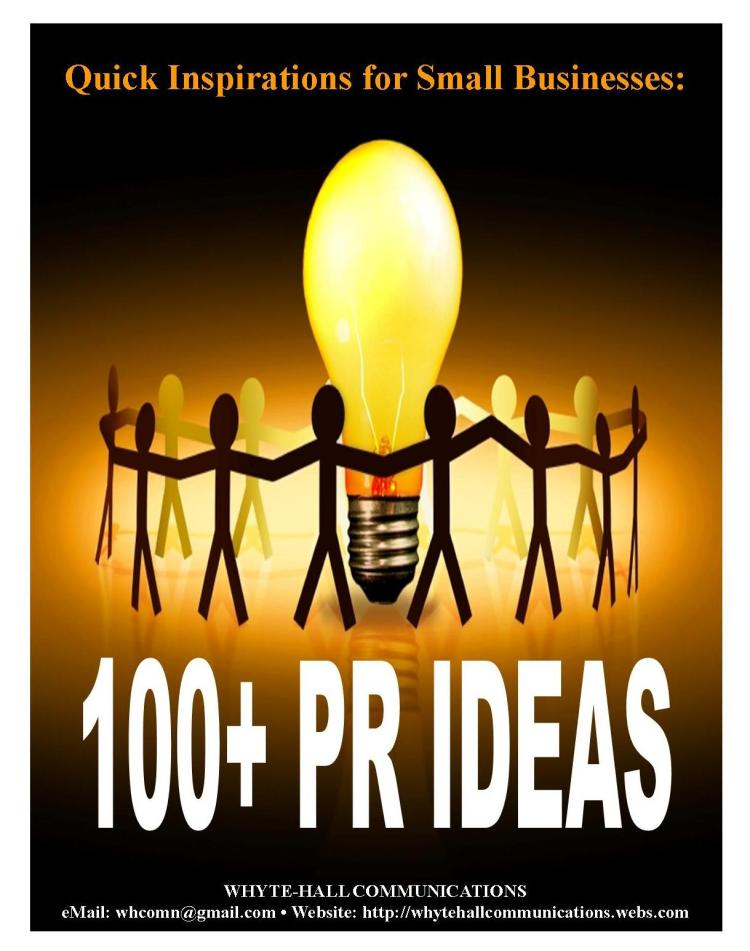 COVER PAGE (100+ PR IDEAS FOR BUSINESSES