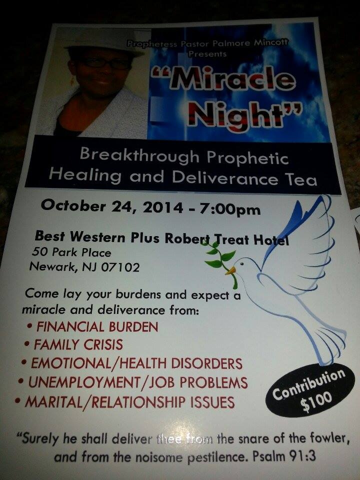 Breakthrough Prophetic Healing and Deliverance Tea Party, October 24!