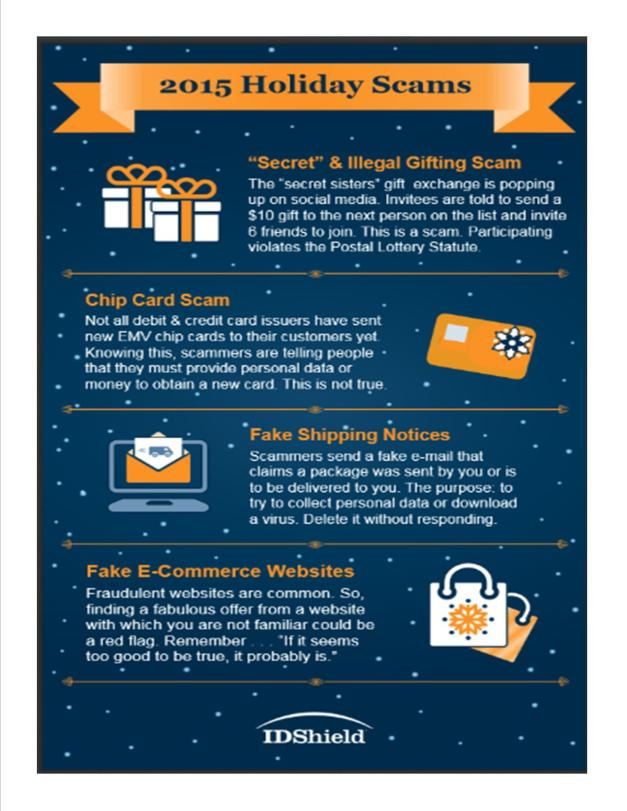 Holiday Seasons Scams