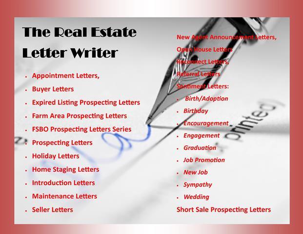 real estate announcement letter sample